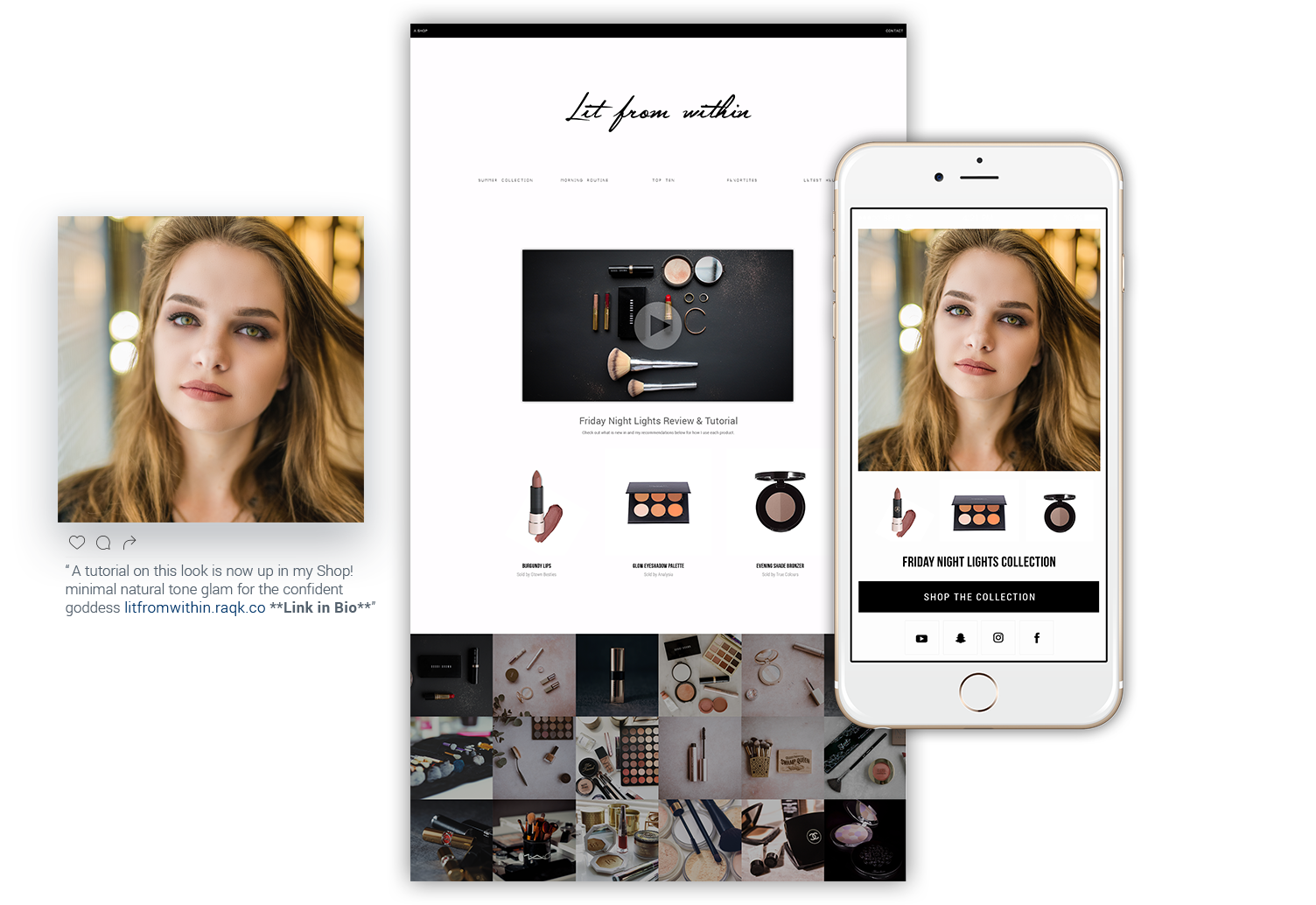 shops built for Influencers, Publishers, Creators & Vloggers